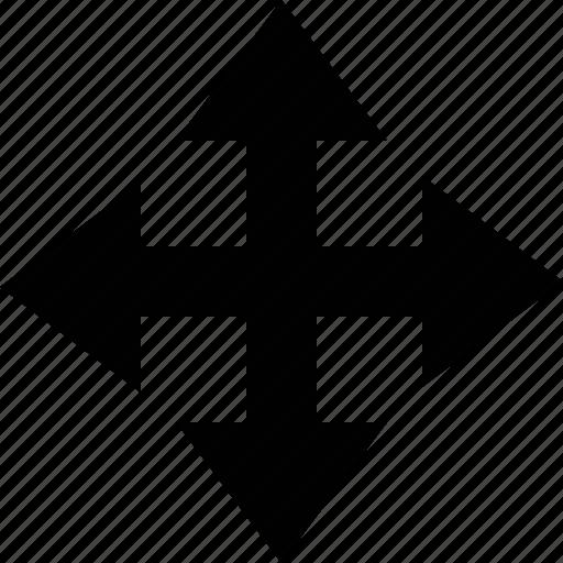 app button, arrow, move, point, pointer icon
