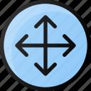 circle, arrow, directions