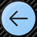 circle, arrow, left