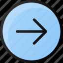 circle, arrow, right