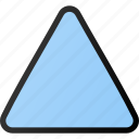 triangular, arrow, up