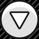 arrow, button, circle, down