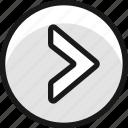 arrow, button, circle, right, 1