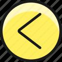 arrow, circle, left