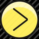 arrow, circle, right