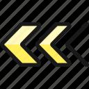 double, arrow, left