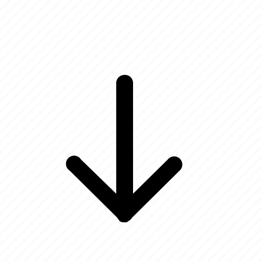 arrow, cursor, dart, direction, down, missile icon