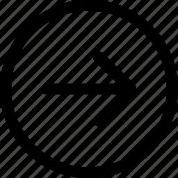 arrow, cursor, dart, direction, missile, right icon