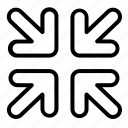 arrow, arrows, small, direction, minimize