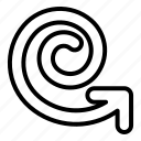 arrow, arrows, spiral, direction