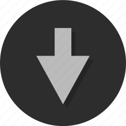 arrow, arrows, down, download, nav, point, pointer icon