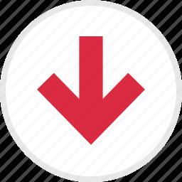 arrow, arrows, down, nav icon