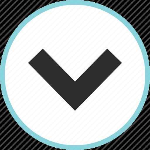 arrow, arrows, down, download, nav, point icon