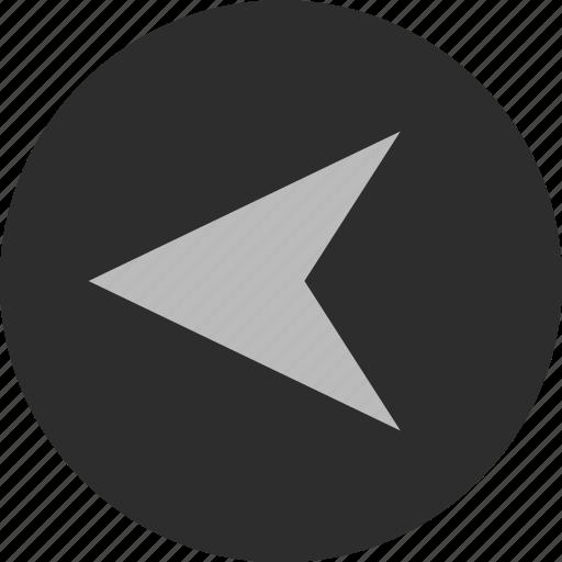 arrow, arrows, back, gps, left, nav icon
