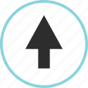 arrow, arrows, nav, point, up, upload icon