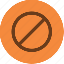 audio, denied, stop icon