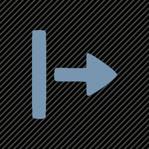arrow, beggining, start icon