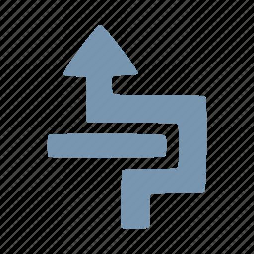 around, arrow icon