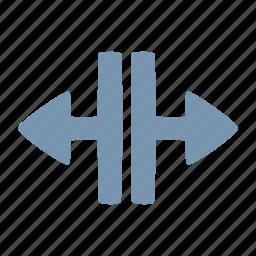 arrow, open, split icon
