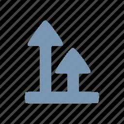 arrow, grow icon