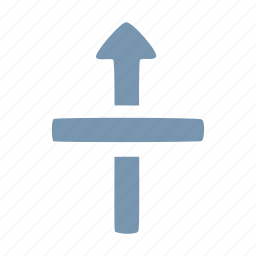 arrow, through icon
