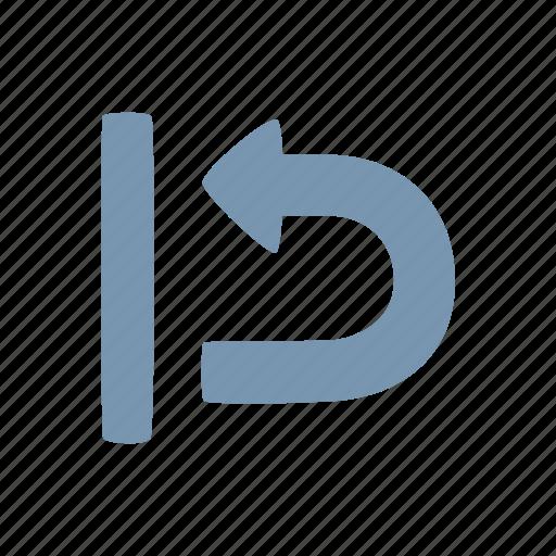 arrow, return icon