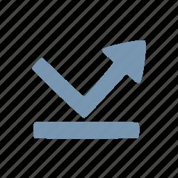 arrow, bounce, reflect icon