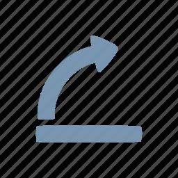 arrow, get up icon