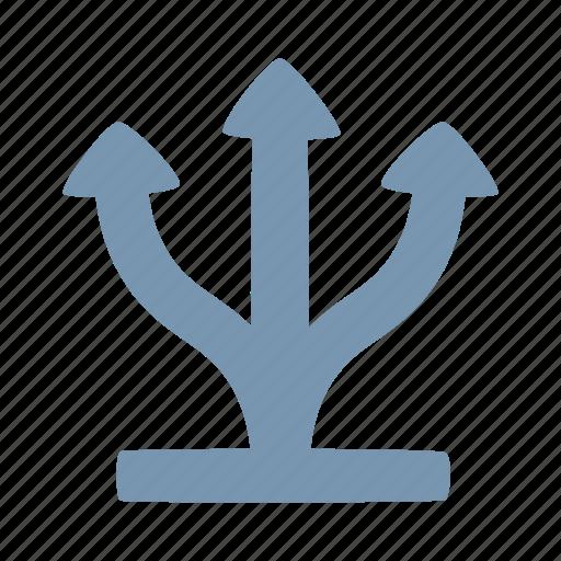 arrow, direction, grow icon