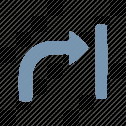 arrow, wall icon