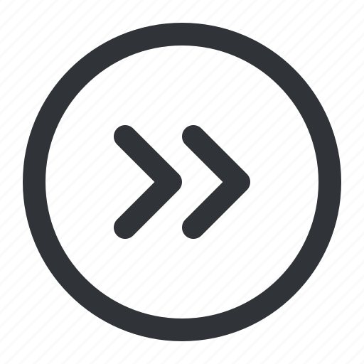 arrows, circle, next, right icon