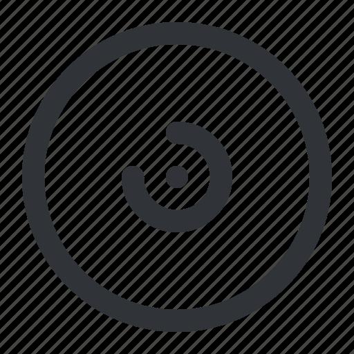 cd, circle, disc icon