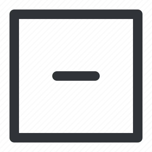 Minus, remove, square icon - Download on Iconfinder