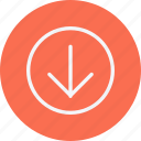 arrow, arrows, direction, down, navigation, sign icon