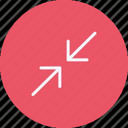 arrow, arrows, compress, direction, navigation, pointer, sign icon