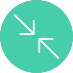 arrow, arrows, compress, direction, navigation, pointer, sign icon