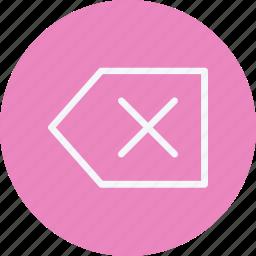 arrow, arrows, delete, direction, navigation, sign icon