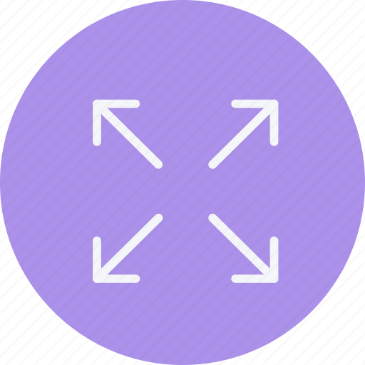 arrow, arrows, direction, expand, navigation, sign icon