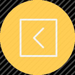 arrow, arrows, chevron, direction, left, navigation, sign icon