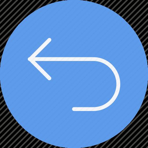 arrow, arrows, curve, direction, left, navigation, sign icon