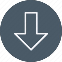 arrow, arrows, direction, down, lower, navigation, sign icon