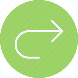 arrow, arrows, curve, move, navigation, right, sign icon