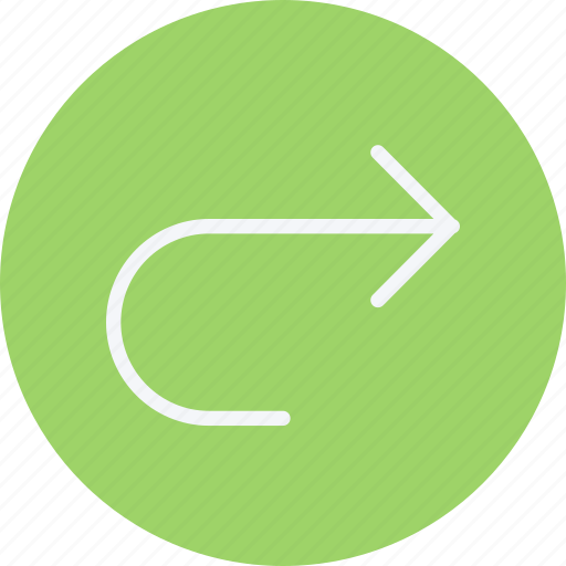 arrow, arrows, curve, move, navigation, right, sign icon
