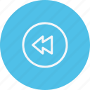 arrow, arrows, backward, direction, navigation, sign, slow icon