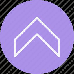 arrow, arrows, chevron, direction, navigation, sign, up icon