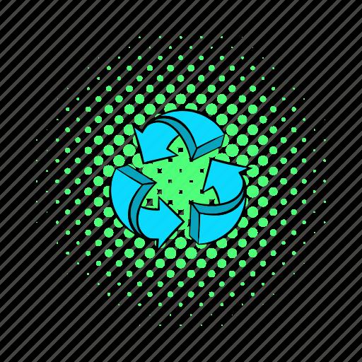 arrow, circle, circular, comics, infographic, loop, round icon