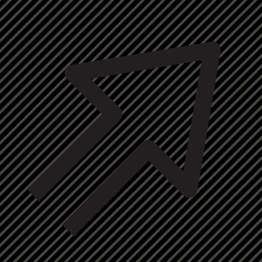 arrows, diagrams, icon, right up icon