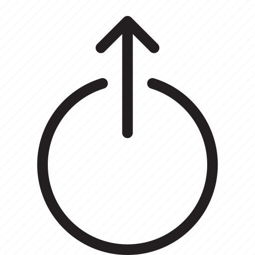 arrow, circle, start, up icon