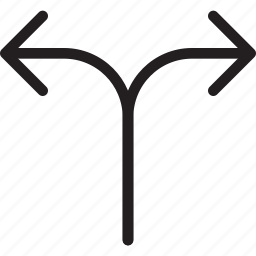 arrow, diversion, divide, multi path, opposite arrows, routing, split arrows icon