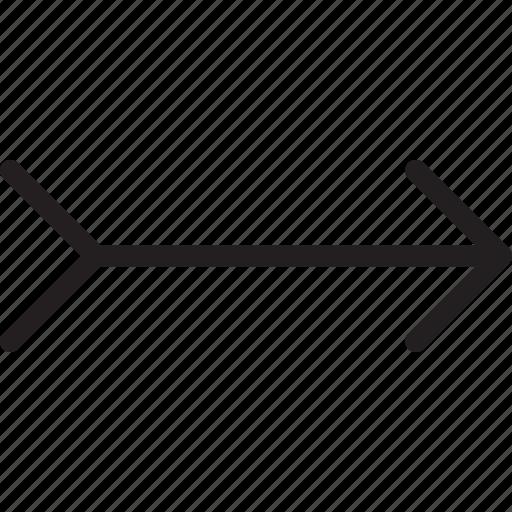 arrow, bow, bow and arrow, double, forward, next, right icon